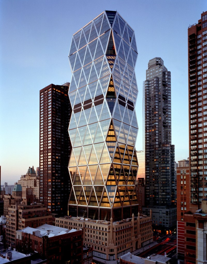 Hearst Tower, New York, USA: the steel waffle