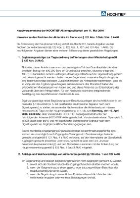 Download (PDF) -                          04.2016Notes on shareholders' rights according to Sec. 121 (3) 3 Nr. 3 of the German Stock Corporation Act (AktG) (German only)                     - Dateigrösse : 0.06 MByte