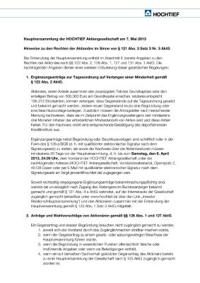 Download (PDF) -                          2013Notes on shareholders' rights according to Sec. 121 (3) 3 Nr. 3 of the German Stock Corporation Act (AktG) (German only)                     - Dateigrösse : 0.07 MByte