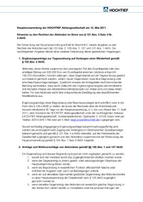 Download (PDF) -                          2011Notes on shareholders' rights according to Sec. 121 (3) 3 Nr. 3 of the German Stock Corporations Act (AktG) (German only)                     - Dateigrösse : 0.05 MByte