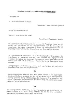 Download (PDF) -                          2010Control agreement and profit and loss transfer agreement of March 01, 2010 between HOCHTIEF Aktiengesellschaft and HOCHTIEF Construction AG (German only)                     - Dateigrösse : 0.6 MByte