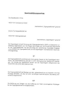 Download (PDF) -                          2009Profit and loss transfer agreement of January 26, 2009 between HOCHTIEF Aktiengesellschaft and HOCHTIEF Concessions GmbH (German only)                     - Dateigrösse : 0.46 MByte