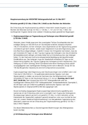 Download (PDF) -                          03.2017Notes on shareholders' rights according to Sec. 121 (3) 3 Nr. 3 of the German Stock Corporation Act (AktG) (German only)                     - Dateigrösse : 0.09 MByte