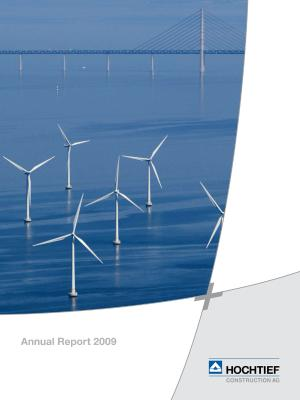Download (PDF) -                          04.2010HOCHTIEF Construction AG Annual Report 2009                     - Dateigrösse : 1.4 MByte